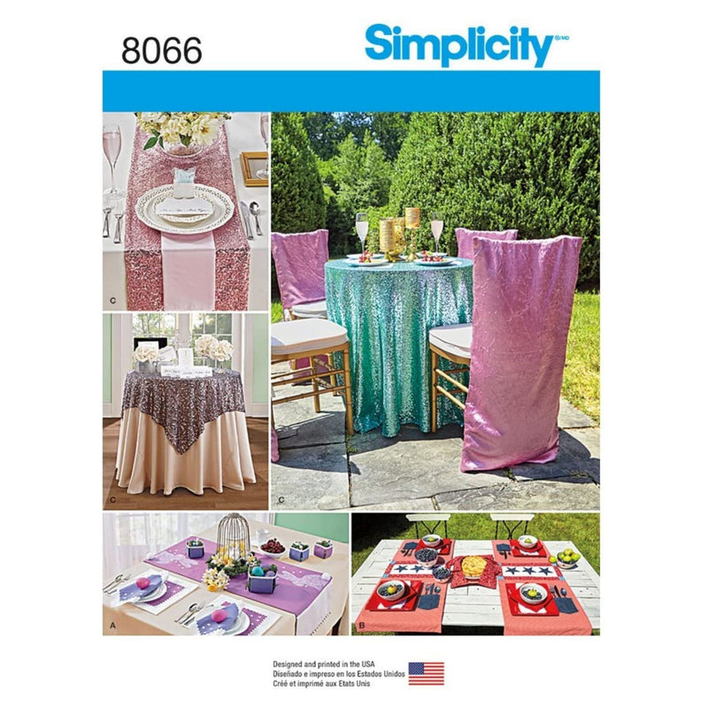 Simplicity Sewing Pattern 8066OS Table Accessories