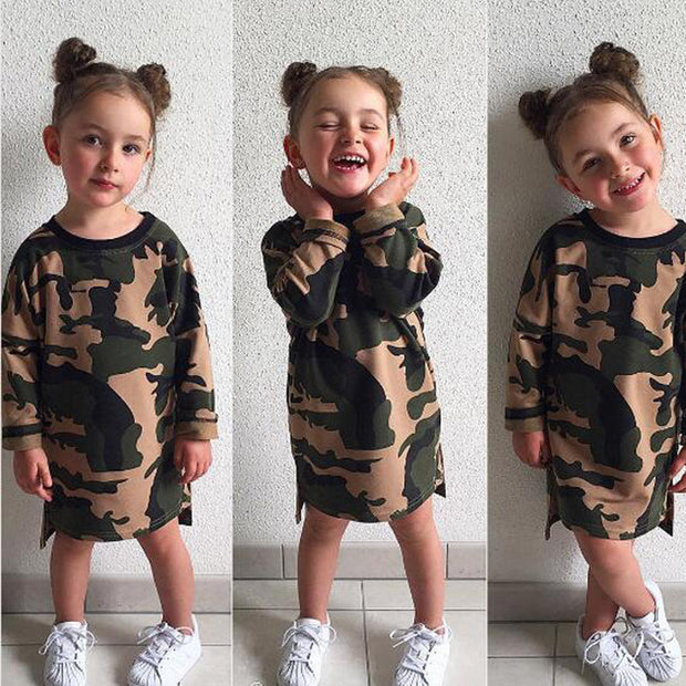 Girls Camouflage Long Sleeve - Legging Empire