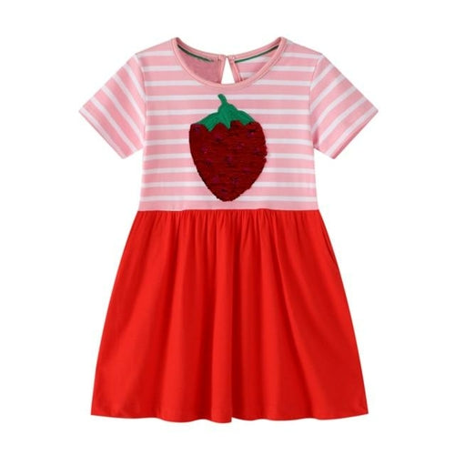 Baby Girls Dresses Clothes Kids Cotton Beach Dresses Girls Patchwork - Legging Empire