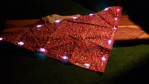Litewave Traditional Red Bandana w/LED Lights - 2 PACK