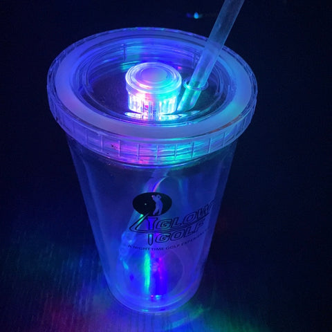 TWO (2) 16oz Double Insulated LED Tumblers