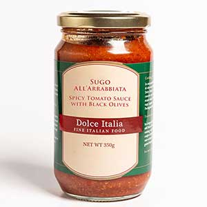 Spicy Fresh Tomato Sauce with Black Olives 350g