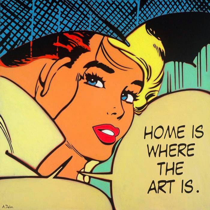 """Home is Where the Art is"" by Alan Delon"