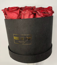 Load image into Gallery viewer, Small Suede Round (Red Roses)