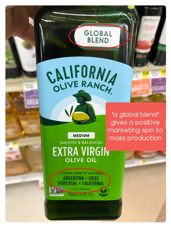 olive oil blends from multiple countries