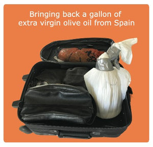 Traveling back a gallon of extra virgin olive oil