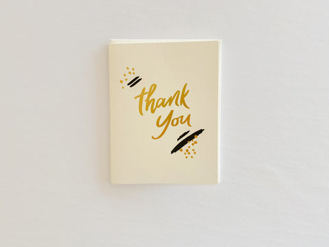 Thank You -  Dahlia Press Greeting Card