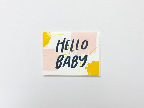 Hello Baby - Dahlia Press Card