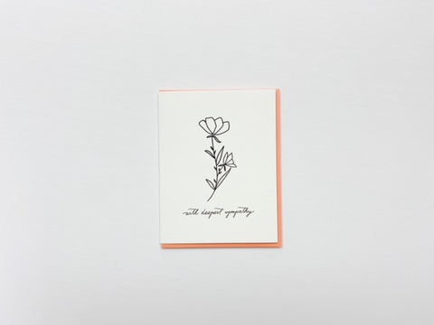 With Deepest Sympathy - Dahlia Press Card