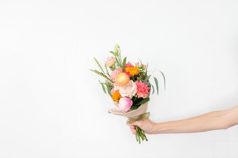Petite Wrapped Flower Bouquet