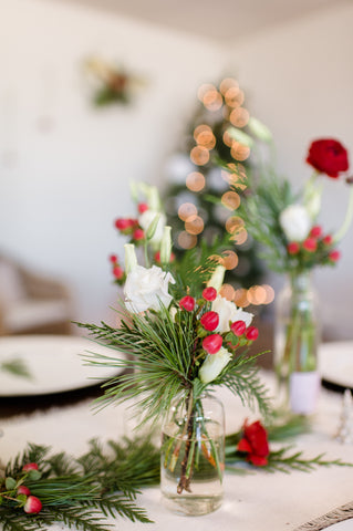 Single Christmas Budvases
