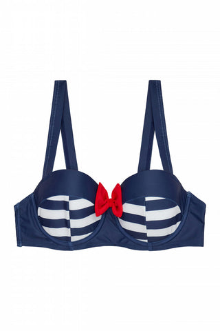 Retro Pin Up Balconette Bikini Top Hello Sailor!