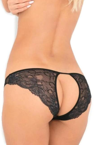 Delectable Open Back Crotchless Lace Brief