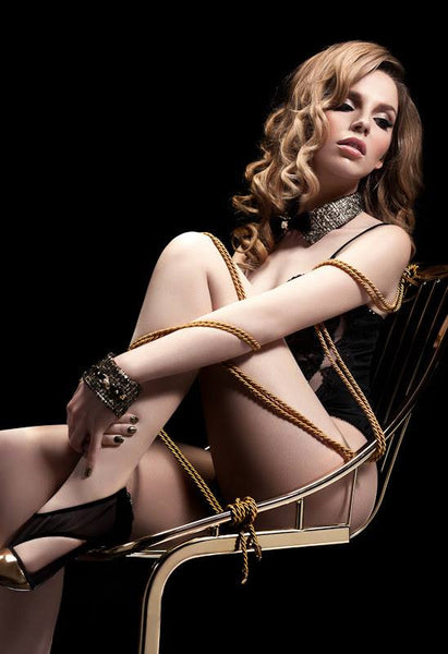 Noir Gold Tip Rope Lasso by Fräulein Kink - She Said Boutique - 2