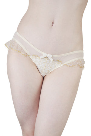 Kareen Glittered Gold and Ivory Brief