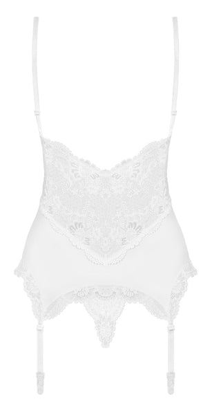 Swan Lace Basque & String Set