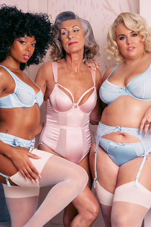 Sybil Soft Blue High Apex Bra (32A-44H)