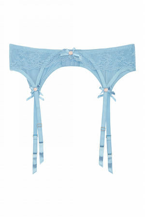 Sybil Soft Blue Suspender Belt (8-26)
