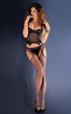 Erotica Suspender Fishnet Tights - She Said Boutique - 1