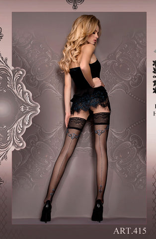 Stunning Black and Blue Seemed Hold Ups