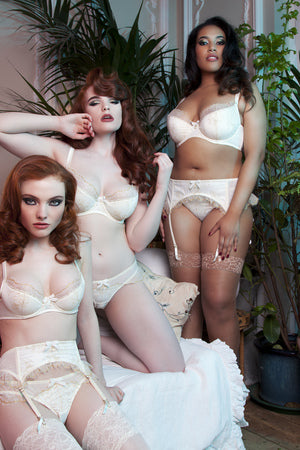 Kareen Glittered Gold and Ivory Suspender Belt