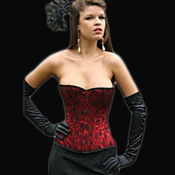 Red and Black Lace High Back Corset - She Said Boutique - 3