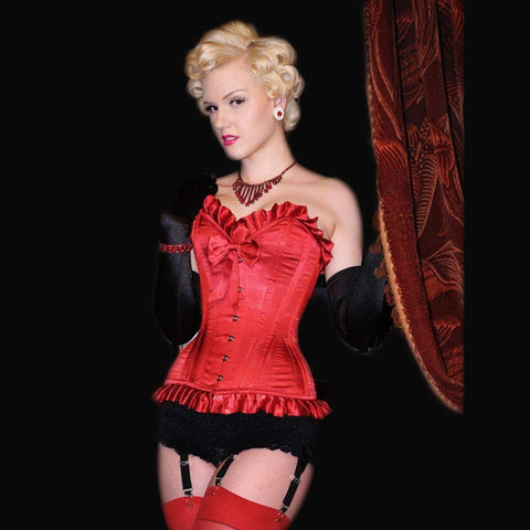 Showgirl Ruffle and Bow Corset - She Said Boutique - 1