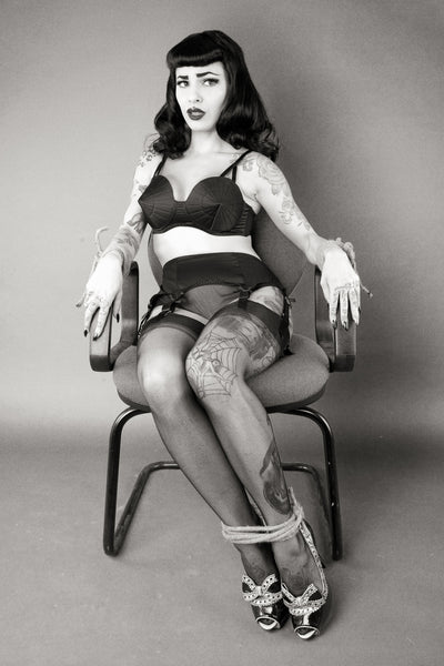 Pointed Retro Bettie Page Bullet Bra