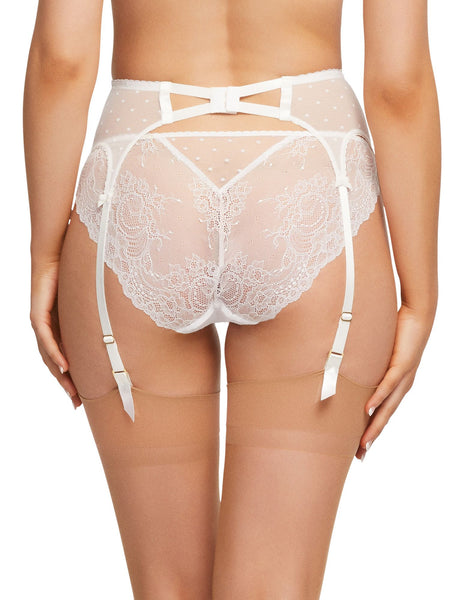 Fiamma White Lace & Polka Brief