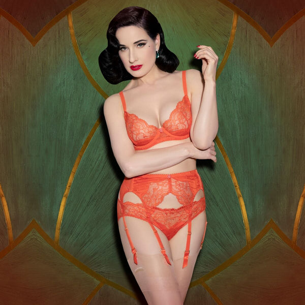 Tryst Suspender Belt - Poppy