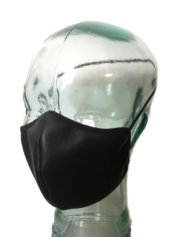 Lined Face & Nose Mask in Faux Leather (Non Medical Grade)