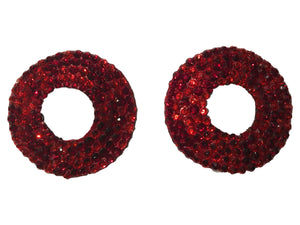 Red Crystal Open Nipple Pasties
