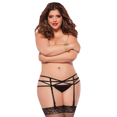 Shiny Queen Suspender Belt - She Said Boutique - 1