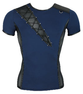 Blue & Mesh T-shirt by NEK