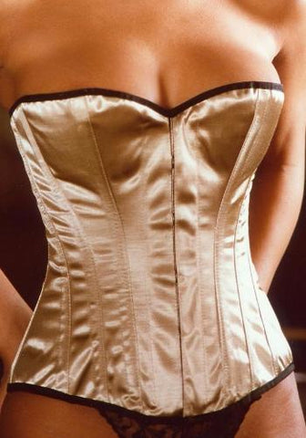 Simple Line Gold Satin Corset