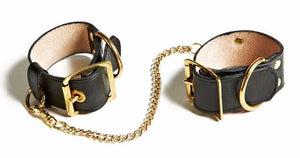 1 Inch Leather and Gold Cuffs