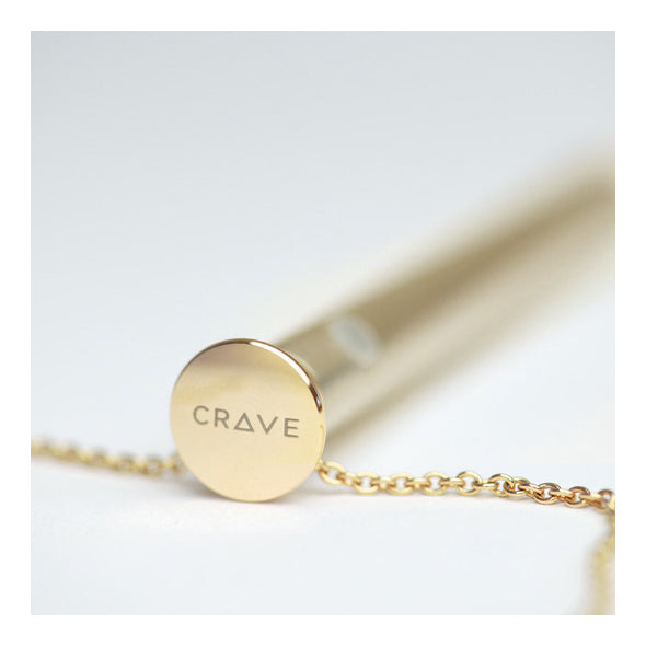 24KT Gold -Plated vibrator necklace by Crave