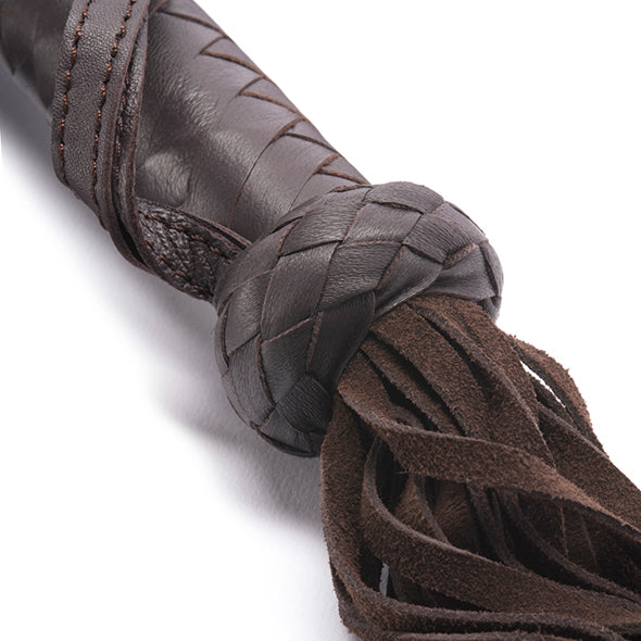 Brown Leather Flogger by Coco de Mer