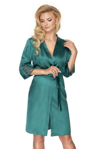 Emerald Dressing Gown Green