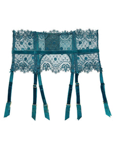 Vedette Spruce Green Lace Suspender Belt