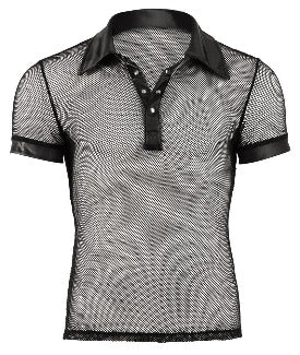 Fishnet Polo Shirt