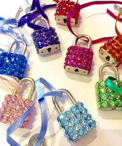 Swarovski Crystal Padlock for Collars / Cuffs