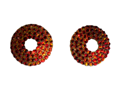 Swarovski Crystal Fire Opal Red Nipple Pasties