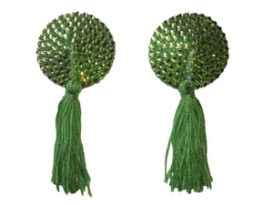 Swarovski Lime Green Nipple Tassels