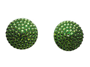 Swarovski crystal nipple pasties in lime green