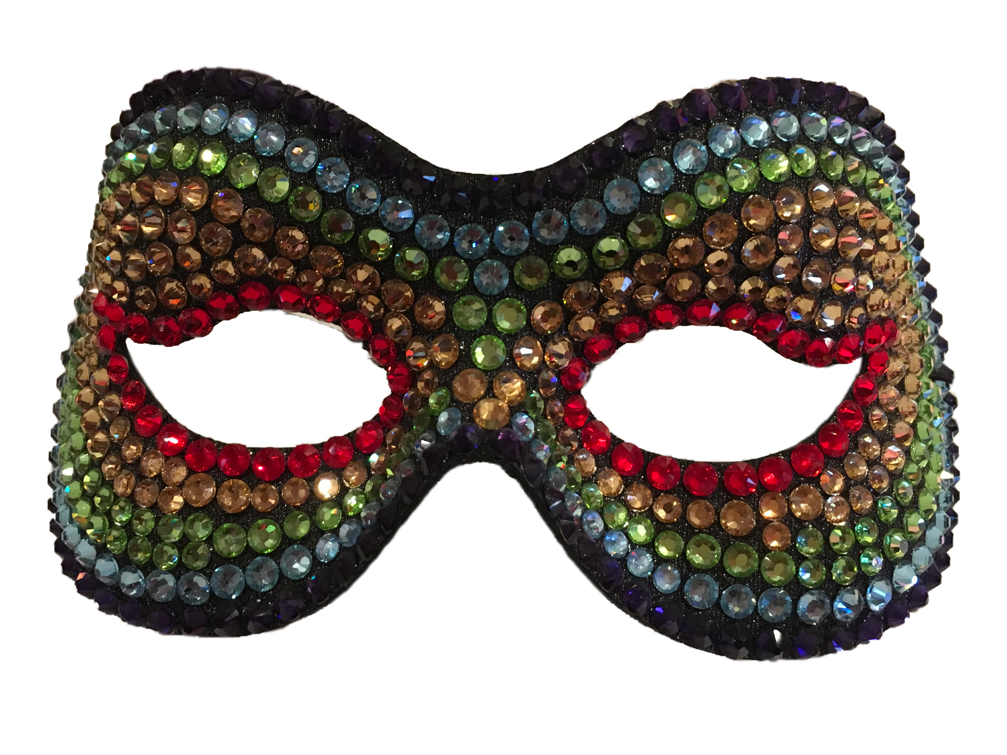 Rainbow Swarovoski Crystal Mask