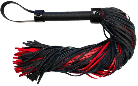 Suede Leather Croc Print Flogger