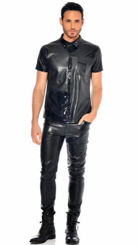 Liam Fake Leather Shirt by Patrice Catanzaro