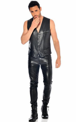 Joss Fake Leather Trousers by Patrice Catanzaro