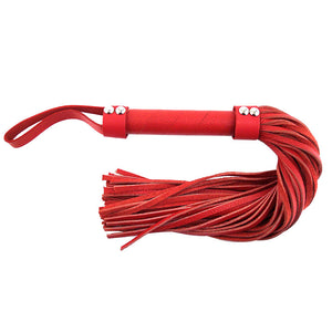 Large Leather Flogger in Pink / Purple / Red /